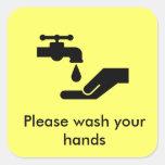 Lávese por favor las manos