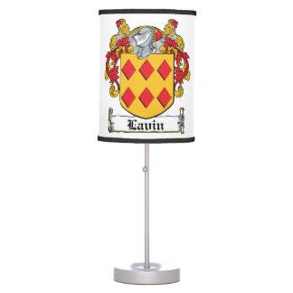 Lavin Family Crest Desk Lamp