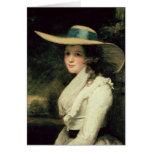 Lavinia Bingham, 2da chaqueta de punto 1785-6 de l Tarjeta De Felicitación