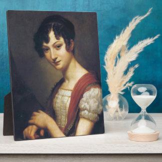 Lavinie Barbier-Walbonne by Pierre-Paul Prud'hon Display Plaque