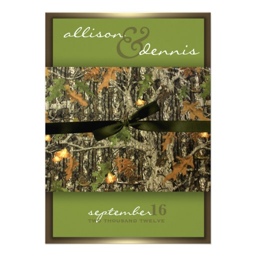 Camouflage Wedding Invitations could be nice ideas for your invitation template