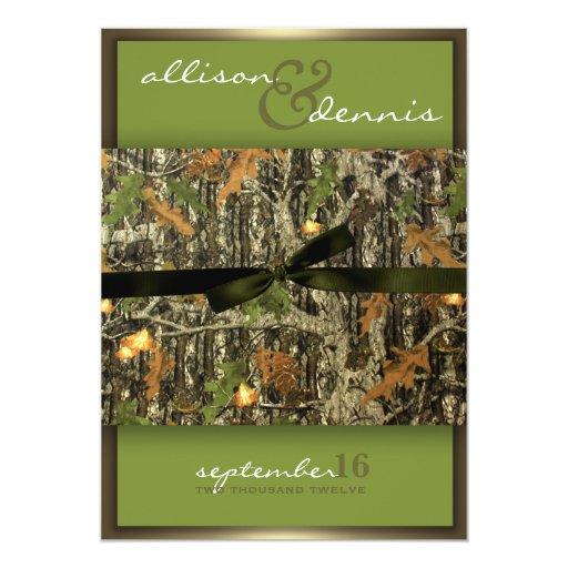 Camouflage Invitation is adorable invitation design