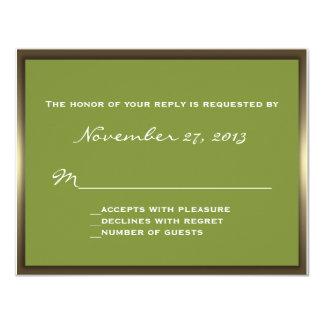 Lavish Camo Wedding RSVP 4.25x5.5 Paper Invitation Card