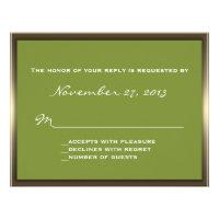 Lavish Camo Wedding RSVP Personalized Invite (<em>$1.85</em>)