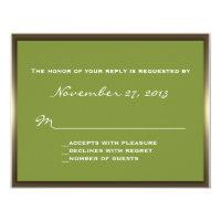 Lavish Camo Wedding RSVP Personalized Invite (<em>$1.96</em>)