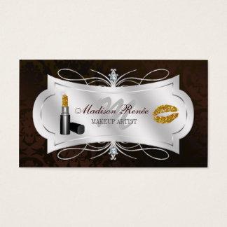 Lavish Dark Chocolate Sparkling Cosmetologist Business Card