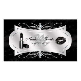 Lavish Ebony Sparkling Cosmetologist Double-Sided Standard Business Cards (Pack Of 100)