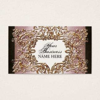 Lavish Elegant Baroque Gold Look Floral Swirl Card
