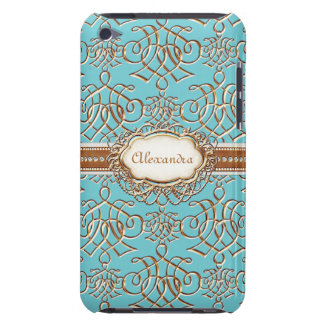 Lavish Elegant Gold Look Calligraphic Swirl Jewels Case-Mate iPod Touch Case