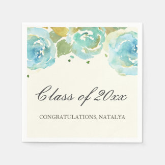 Lavish Florals Graduation Party Napkins
