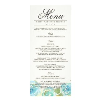 Lavish Florals Menu Rack Card