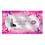 Lavish Fuchsia Lavender Sparkling Cosmetologist Double-Sided Standard Business Cards (Pack Of 100)