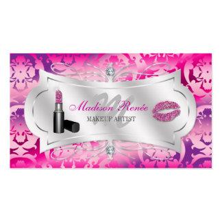 Lavish Fuchsia Lavender Sparkling Cosmetologist Business Card Template
