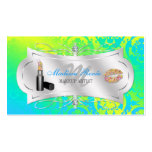 Lavish Lemon Lime Sparkling Cosmetologist Double-Sided Standard Business Cards (Pack Of 100)