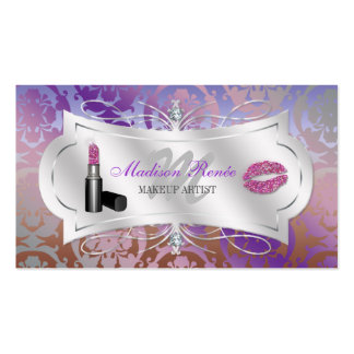 Lavish Mocha Lavender Sparkling Cosmetologist Business Card