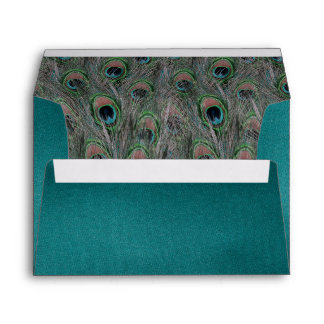 Lavish Peacock Feathers Envelope