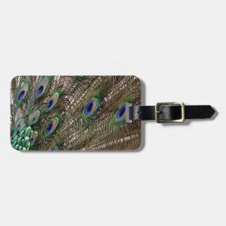 Lavish Peacock Flumes Luggage Tag