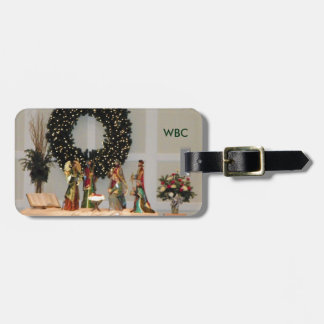 Lavish Richly Colored Nativity Display Design Tag For Luggage