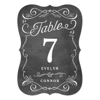 Lavish Scrolls Editable Color Table Number Card