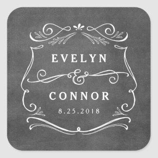 Lavish Scrolls Editable Color Wedding Sticker