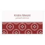 Lavishly Romantic Business Card, Maroon Business Card