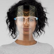 LavishlyOn Black/Gold Bandana Look Wrap Face Shield
