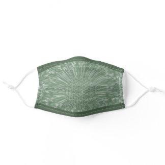 LavishlyOn Sage/Vanilla Bloom Adult Cloth Face Mask