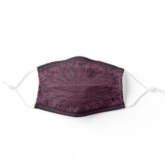 LavishlyOn Wine/Eggplant Bloom Adult Cloth Face Mask