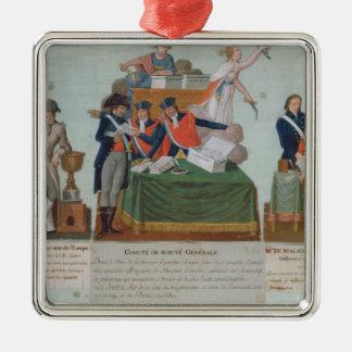 Lavoisier, Comite de Surete Generale Adorno Navideño Cuadrado De Metal
