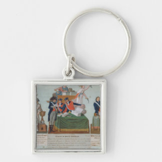 Lavoisier, the Comite de Surete Generale Silver-Colored Square Keychain