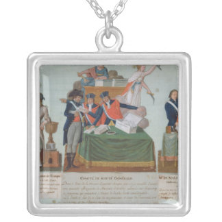 Lavoisier, the Comite de Surete Generale Square Pendant Necklace