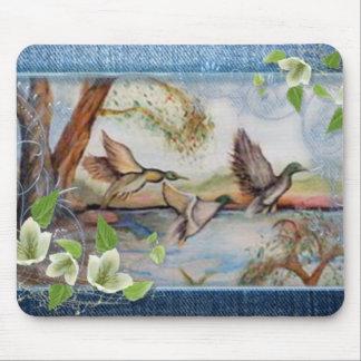lavorato  a mano olio su tela dipinto originale in mouse pad