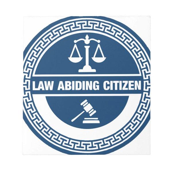 Law Abiding Citizen Notepad
