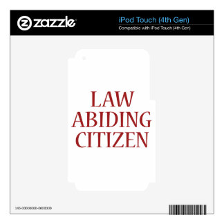 Law Abiding Citizen Skins For iPod Touch 4G