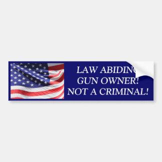 LAW ABIDING GUN OWNER BUMPER STICKER