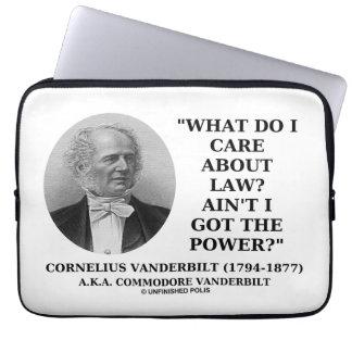 Law Ain't I Got The Power (Cornelius Vanderbilt) Computer Sleeves