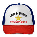 LAW AND ORDER TRUMP 2016 TRUCKER HAT