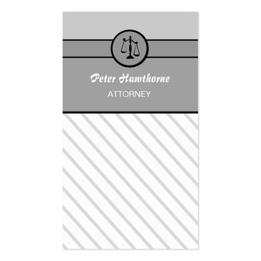 Law Attorney Lawyer Justice Scales Business Cards