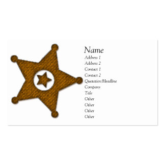 Law Badge Business Card