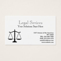 Law Balance Of Justice Business Card at Zazzle