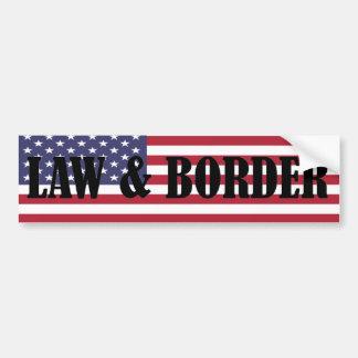 LAW & BORDER Bumper Sticker