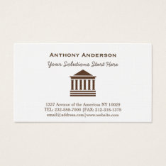 Law Business Card at Zazzle