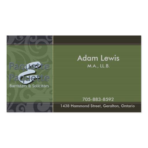 Law Business Card - Logo