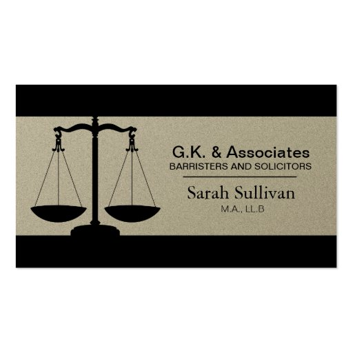 Law Business Card - Simple Pewter Lawyer Attorney