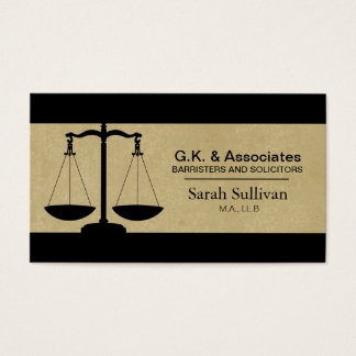 Law Business Card - Simple Texture Lawyer Attorney