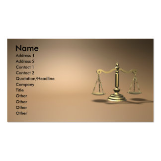 Law Business Card Templates