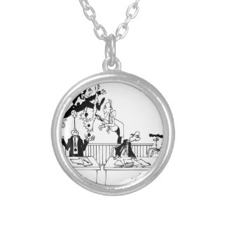 Law Cartoon 5314 Silver Plated Necklace