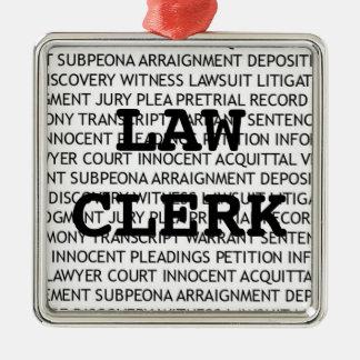 Law Clerk Christmas Metal Ornament