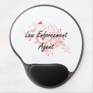 Law Enforcement Agent Artistic Job Design with But Gel Mouse Pad