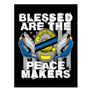 Law Enforcement Blessed are the Peace Makers Postcard